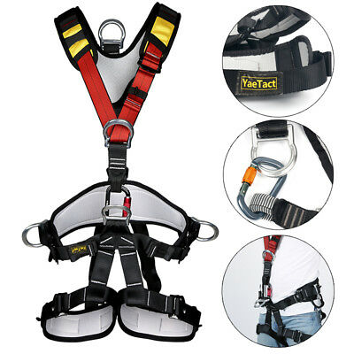 Full Body Safety Rock Climbing Arborist Tree Rappelling Harness Seat Belt Hot!