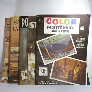 Lot 5 How to Paint Books Walter Foster #15, 52,63,66, 67 Portrai