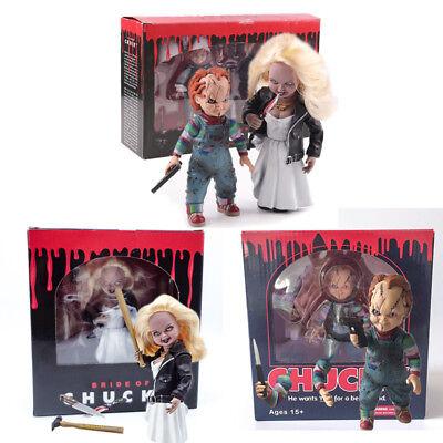 Child's Play Bride of Chucky Doll Chucky & Tiffany Action Figure Toys With - Tiffany Bride Of Chucky