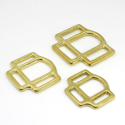 1x Solid Brass Horse Halter Square 3-Sided Halter Bridle Buckles Hardware -