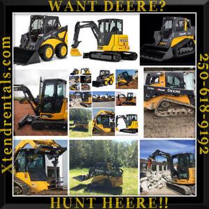 Excavator skid steer bobcat compactor trailer tool xtend rentals