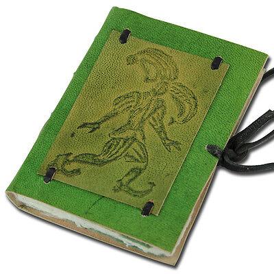 Medieval Renaissance Green Jester Leather Handmade Notebook Diary Journal Log