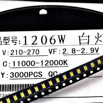50pcs Super Bright White Smd Led 1206 3.2mm1.6mm