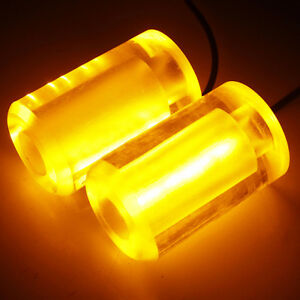 BRAND NEW UNIVERSAL LED FRAME SLIDERS & LIGHTS AMBER 10MM