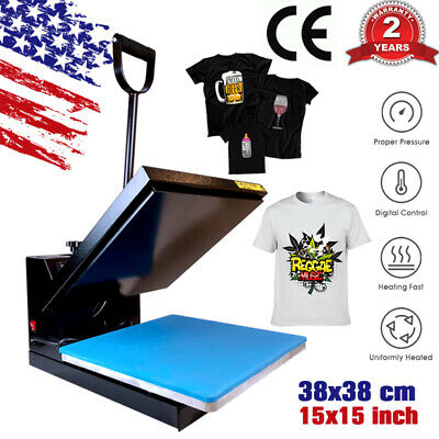 15x15 Diy Digital Clamshell T-shirt Heat Press Machine Transfer Sublimation Us