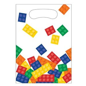 8 x Lego Inspired Block Birthday Party Favor Favour Loot Bags