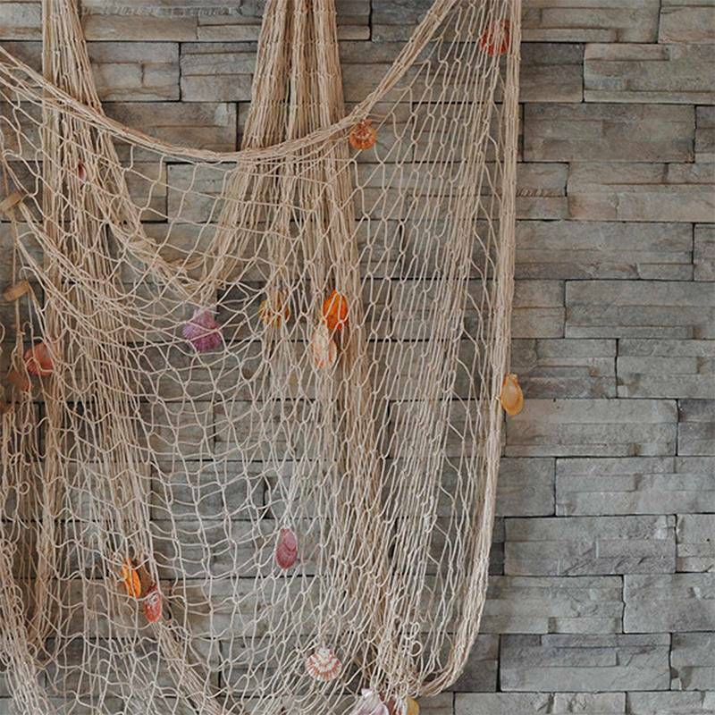 Wandbehang Fischernetz Maritim Strand Urlaub Fischnetz Muscheln Deko Fischernetz