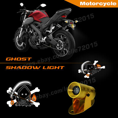 3D Motorcycle Laser Light Skull Halloween Ghost Shadow Motor Projector - Halloween 3d Projector