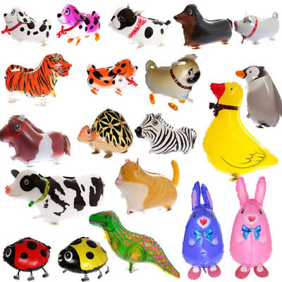 Cute Animal Kids Walking Foil Pet Balloon Helium Child Party Xmas Birthday Decor