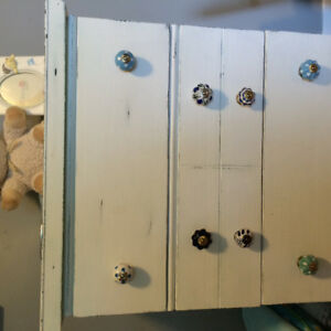 Solid Wood Dresser, Distressed & Shabby Chic Knobs