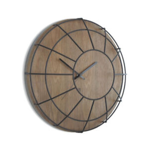 Umbra cage wall clock wood