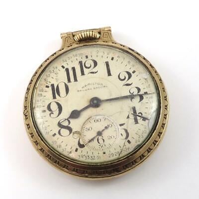 Vtg 1953 992B Hamilton Railway Special Gold Filled Pocket Watch QZG3