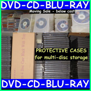 1250 total DVD/CD/BLU-RAY PROTECTIVE CASES
