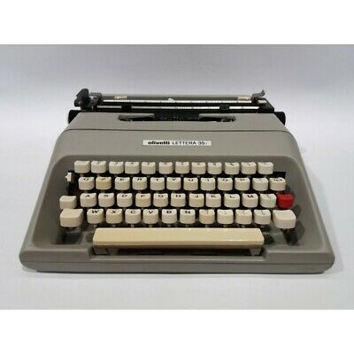 Olivetti Letter 1183.5oz Car Containing Write Portabletypewriter Year 1985