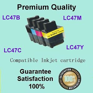 4 x LC47 Ink Cartridge for Brother DCP110C DCP115C MFC3340CN MFC5440 (1BK1C1M1Y)