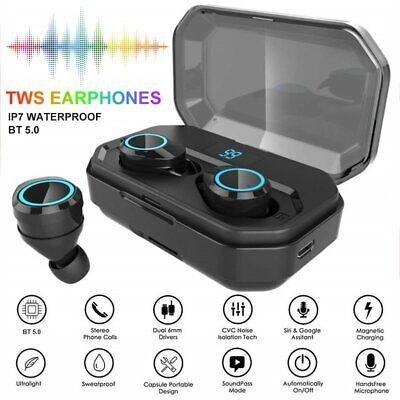 Best Bluetooth 5.0 TWS Earphones Wireless Earbud Stereo Sport Touch LCD