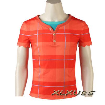 Wreck It Ralph Halloween (Wreck-It Ralph 2 Cosplay Costume Ralph T-shirt Halloween Customize Wreck-It)