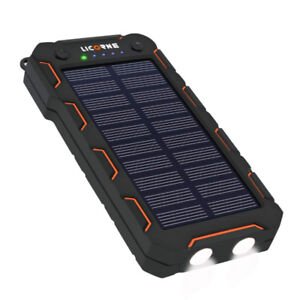 Solar Chargers,15000mAh Portable Solar Power Bank High Efficienc