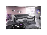 Living Room 3 Seater Corner Sofa Bed - NEW