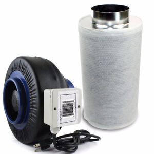 Inline Duct Fan/Charcoal Carbon Filter