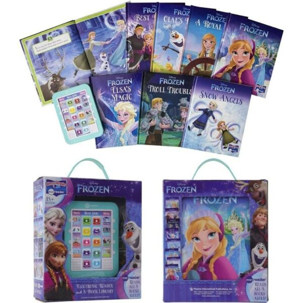 BNIB: Disney Frozen Me Reader Electronic Reader and 8-Sound Book Library - PI Kids