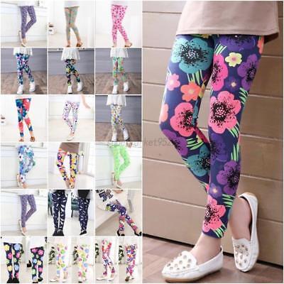 Cute Girls' Colorful Skinny Leggings Casual Kid's Stretchy Pants Trousers 2-14Y - Cute Teens