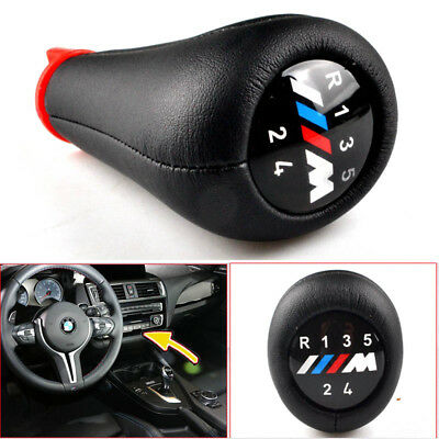 5 Speed BMW Gear Stick Shift Knob Leather M Sport 3 SERIES E36 E39 E46 E90 E91