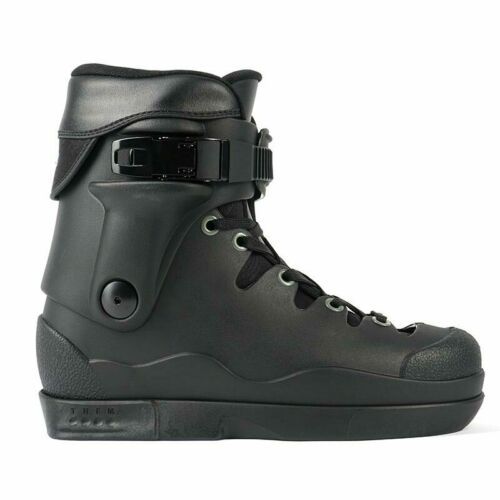 Them Skates 908 V2 Pro Aggressive Inline Boot Only Dual Mens 7.0/8.0 Blk/Gry NEW