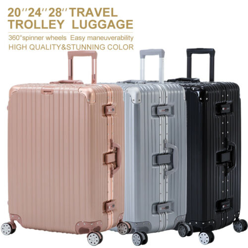 3/4pcs Luggage Travel Set With Lock 4 Wheels Bag Trolley Cas
