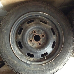 Goodyear winter tires and rims Kitchener / Waterloo Kitchener Area image 1