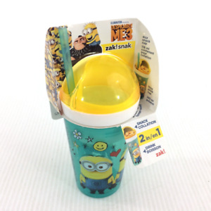 Despicable Me 3 2-In-1 Snack & Drink Cup + Straw Zak! Snak Kids