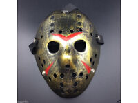 BRAND NEW PARTY MASK GOLDEN FREDDY JASON FACE HALLOWEEN BBQ CELEBRATION FRIDAY 13TH