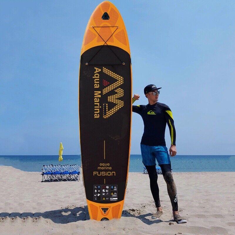 """New Aqua Marina Fusion Orange Inflatable 10'10"""" Paddle Board BT-88883"""