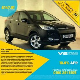 2016 66 FORD KUGA ZETEC TDCI AIR CON CRUISE CONTROL CD & DAB PLAYER 1 OWNER