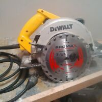 7 1/4 Dewalt corded Circular Saw Used
