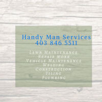 Maintenance Man for Hire