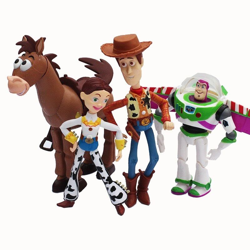 Toy Story Action Figures Set : Toy story pcs set buzz lightyear woody jessie pvc action