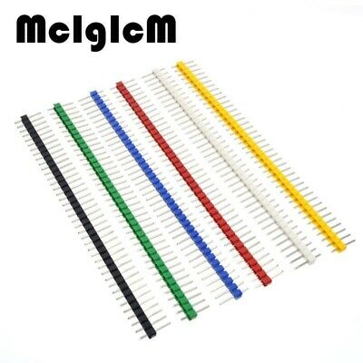 30pcs Pin Connector Male 2.54mm Pitch Pin Header Strip Single Row 40 Pin Connect