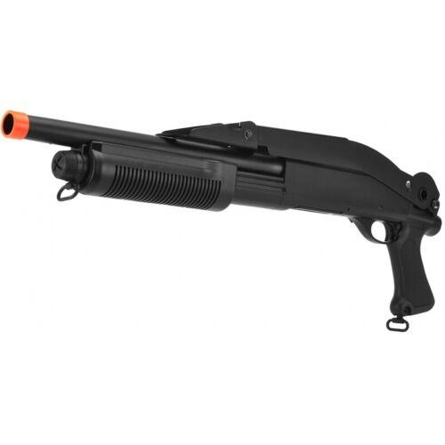 Lancer Tactical Airsoft Shotgun Short Barrel Tri-Burst w/ Folding Stock BLACK
