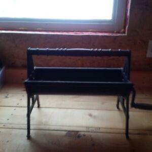 antique newspaper log roller $60