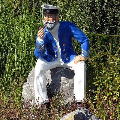 KAPITÄN SEEMANN lebensgroß Deko maritim Garten Figur Werbefigur MEER Dekoration
