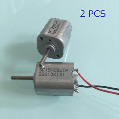 2pcs Minebea Dc 12v 6500rpm Dc Motor 6-pole Rotor Large Torque Mini 15mm Square
