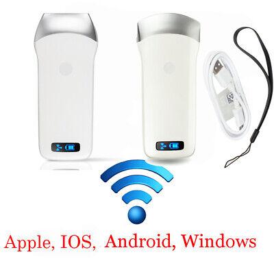 Handheld Wifi Ultrasound Scanner Machine Convexlinear Array Probe 3.57.5mhz Ce
