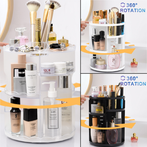 Makeup Cosmetic Rack Holder 360 Degree Rotating Skin Care Or