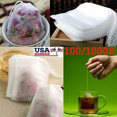 100/1000x Empty Teabags String Heat Seal Filter Paper Herb Loose Tea Bags Teabag - Paper Tea Filters