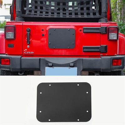 Jeep Wrangler JK JKU Tailgate Spare Tire Delete Filler Plate -Current Blank Plat