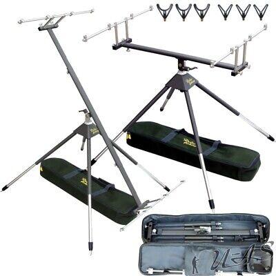 Top Vierbein Rod Pod 360° Drehbar Delta-Fishing & 3 Y- & 3 U-Auflagen Kva 3 Rod Pod