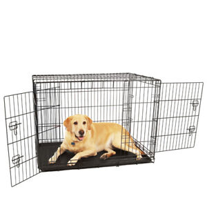 New LARGE foldable Steel Dog Crate Kennel