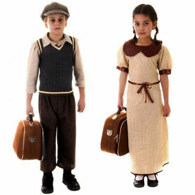CHILD EVACUEE BOYS GIRLS DRESS COSTUMES KIT CHILDREN WORLD BOOK WEEK DAY OUTFIT
