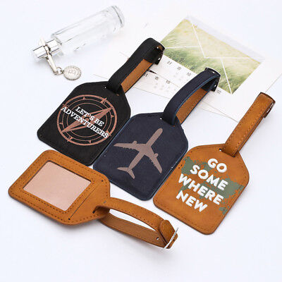 Luggage Tag Travel Suitcase Bag Id Tags Address Label Baggage Card Holder Square